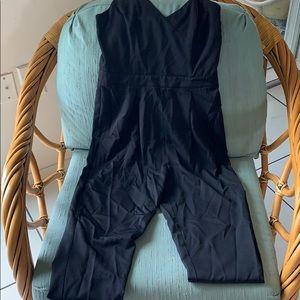 Black single strap jumpsuit